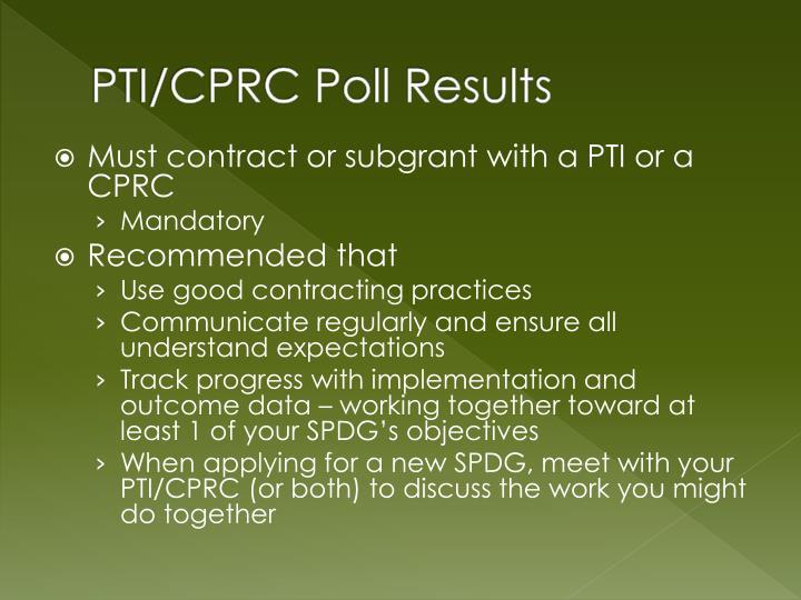 PTI/CPRC Poll Results