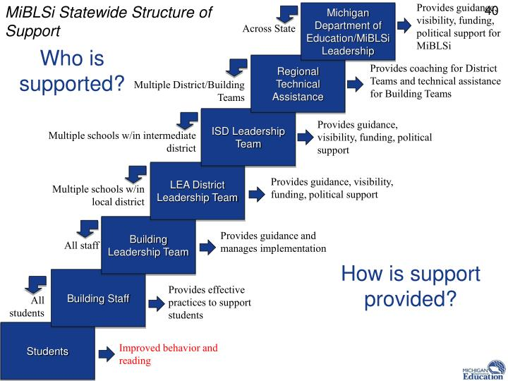 MiBLSi Statewide Structure of Support