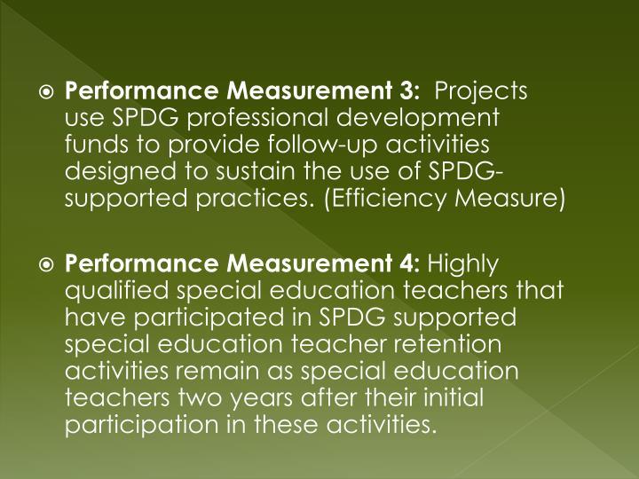 Performance Measurement 3: