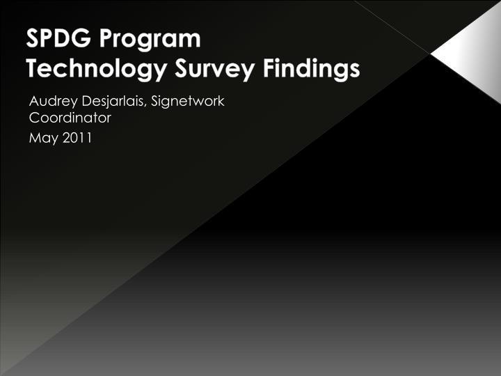 SPDG Program