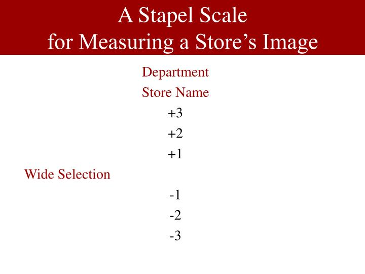 A Stapel Scale