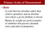 primary scales of measurement2