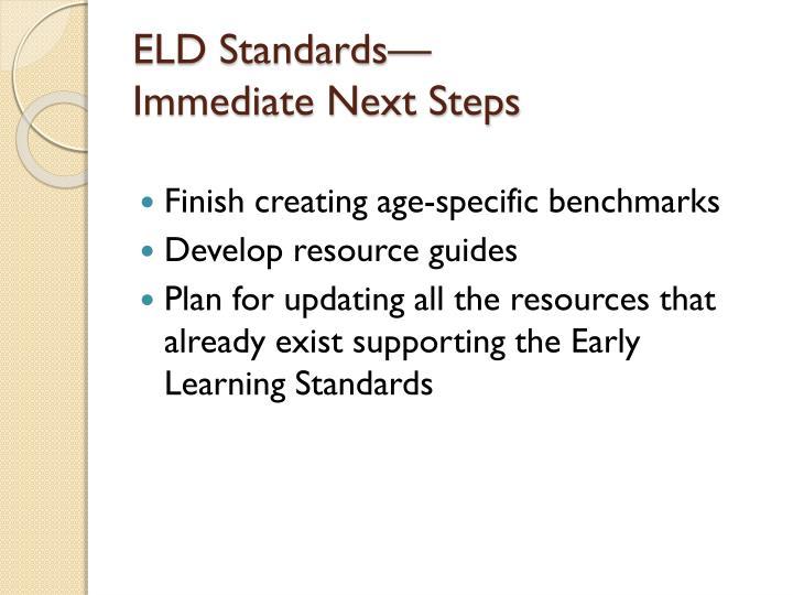ELD Standards—