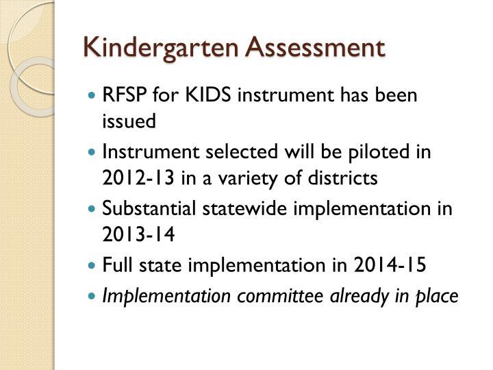 Kindergarten Assessment