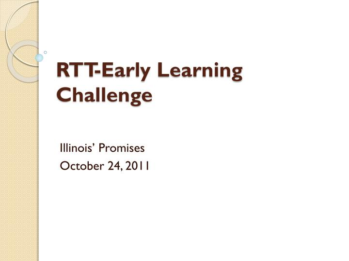 rtt early learning challenge