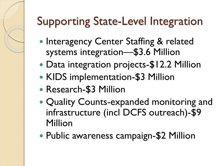 Supporting State-Level Integration