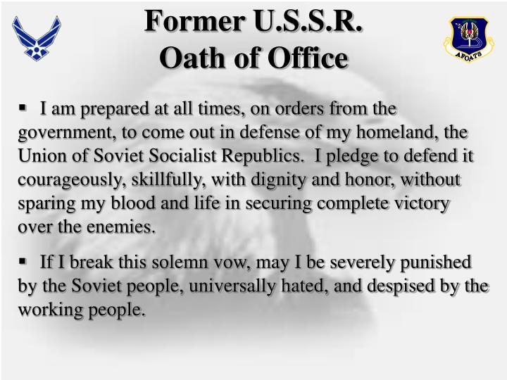 Former U.S.S.R.