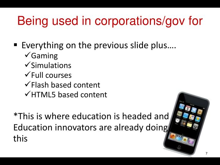 Being used in corporations/
