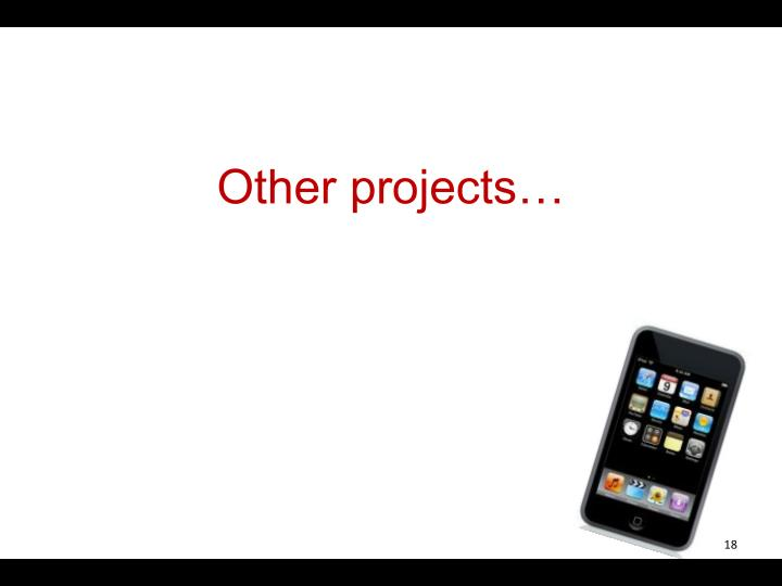 Other projects…