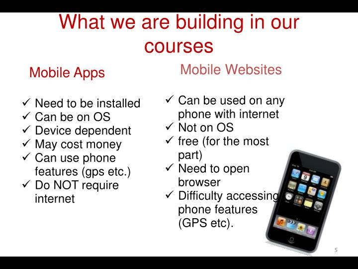What we are building in our courses