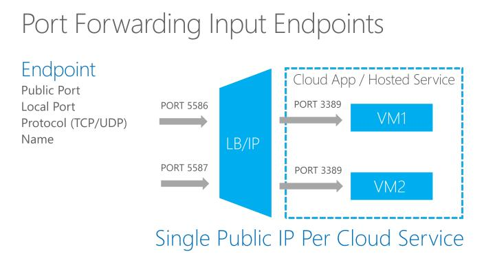 Port Forwarding Input Endpoints