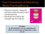 four components of advertising media planning buying