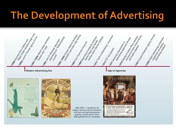 The Development of Advertising