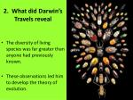 2 what did darwin s travels reveal