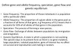 define gene and allelle frequency speciation gene flow and genetic equilibrium