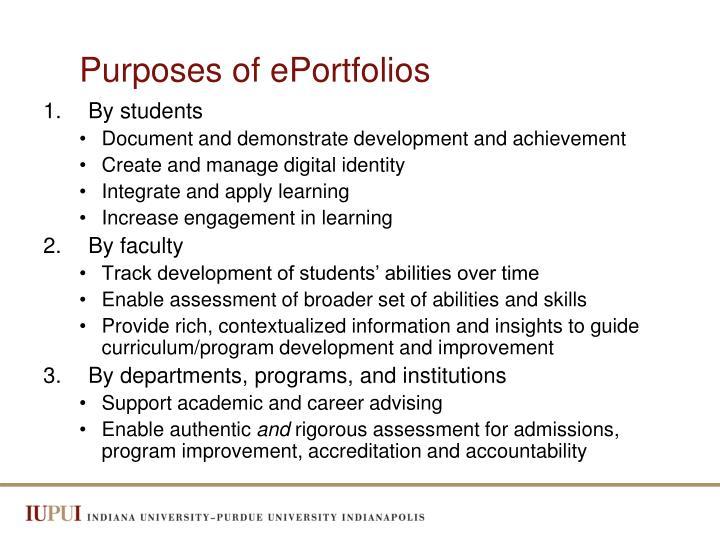 Purposes of