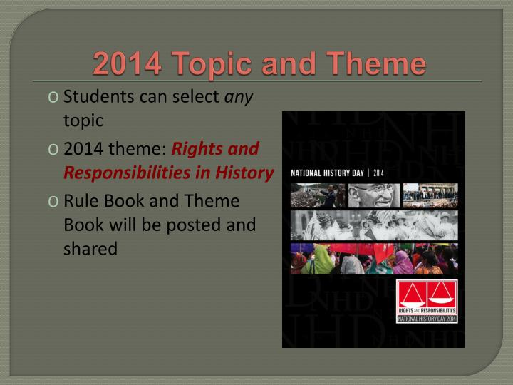 2014 Topic and Theme