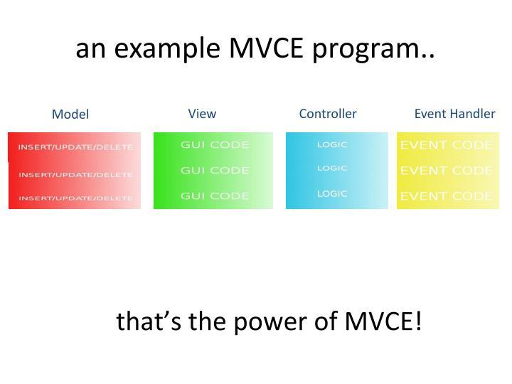 an example MVCE program..