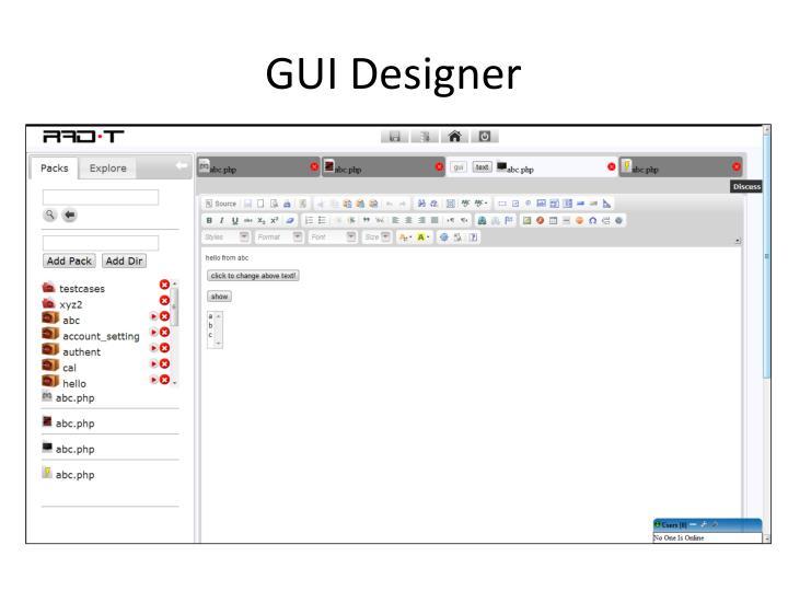 GUI Designer