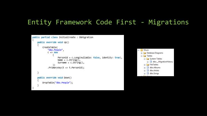 Entity Framework Code First - Migrations