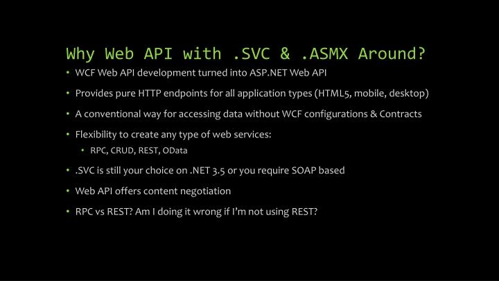 Why Web API