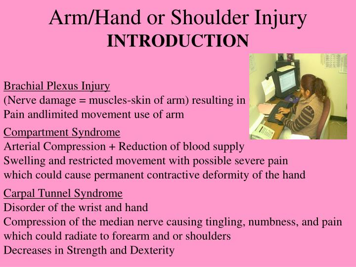 Arm/Hand or Shoulder Injury