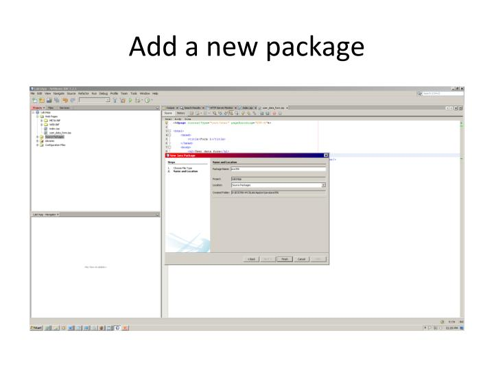Add a new package