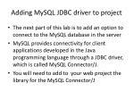adding mysql jdbc driver to project