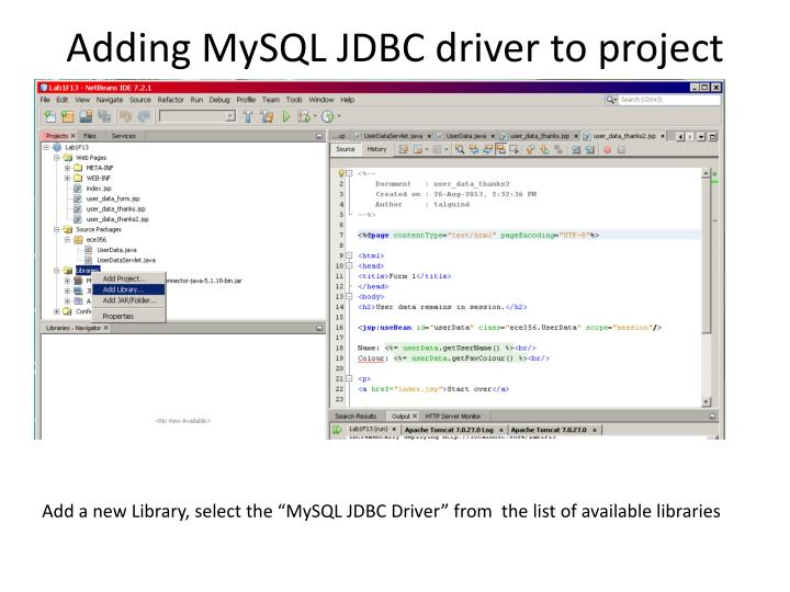 Adding MySQL JDBC driver to project