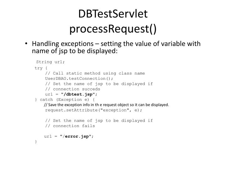 DBTestServlet