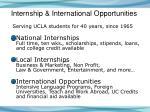 internship international opportunities