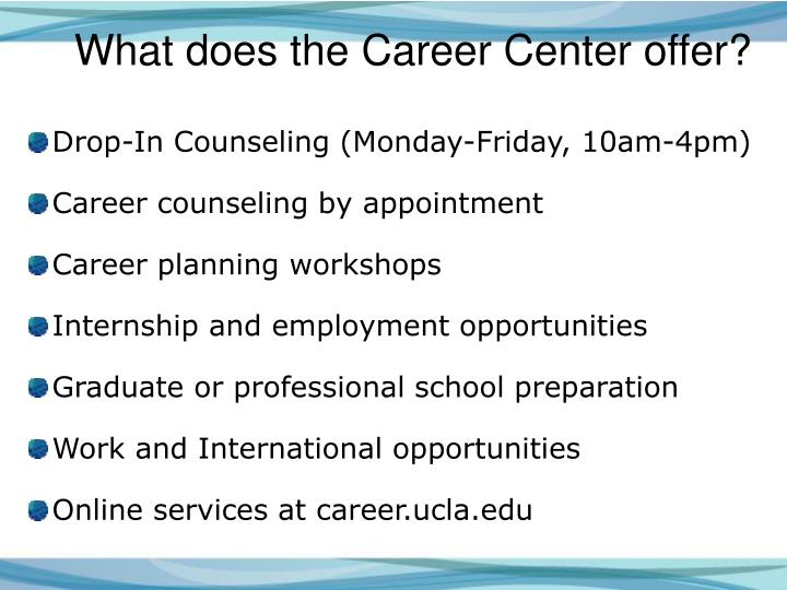 What does the Career Center offer?