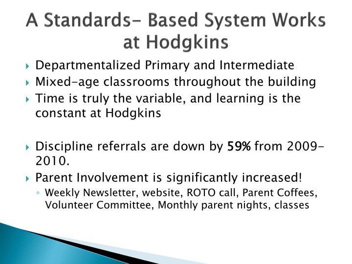 A Standards- Based System Works at Hodgkins