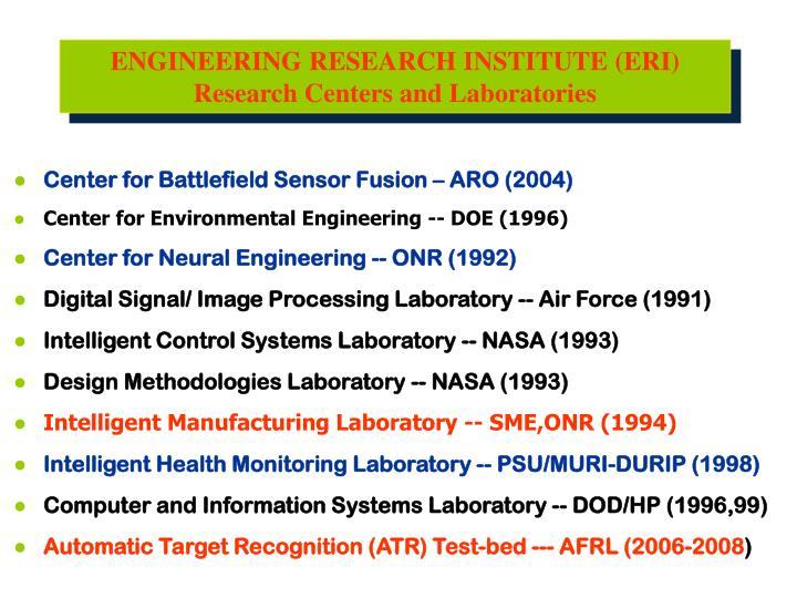 ENGINEERING RESEARCH INSTITUTE (ERI)