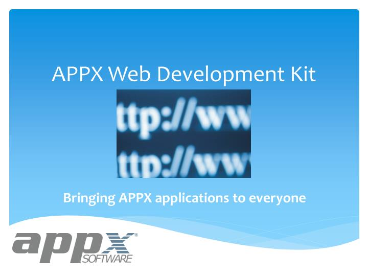 Appx web development kit