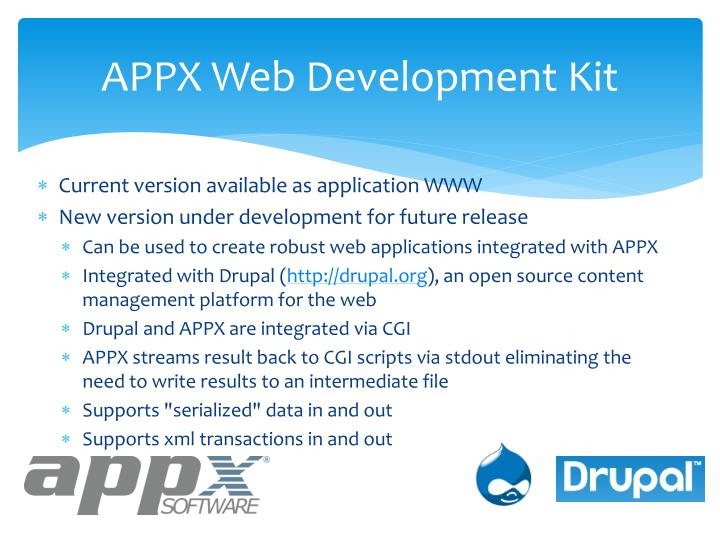 Appx web development kit1