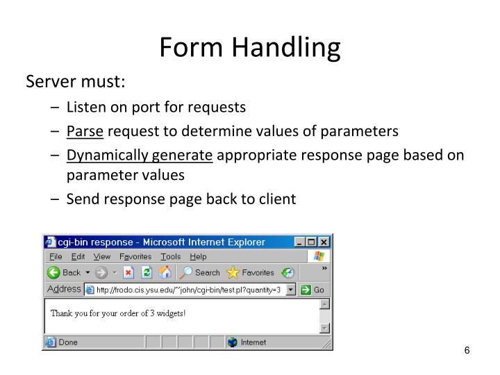 Form Handling