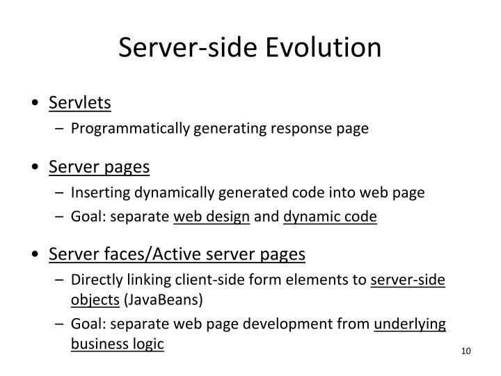 Server-side Evolution