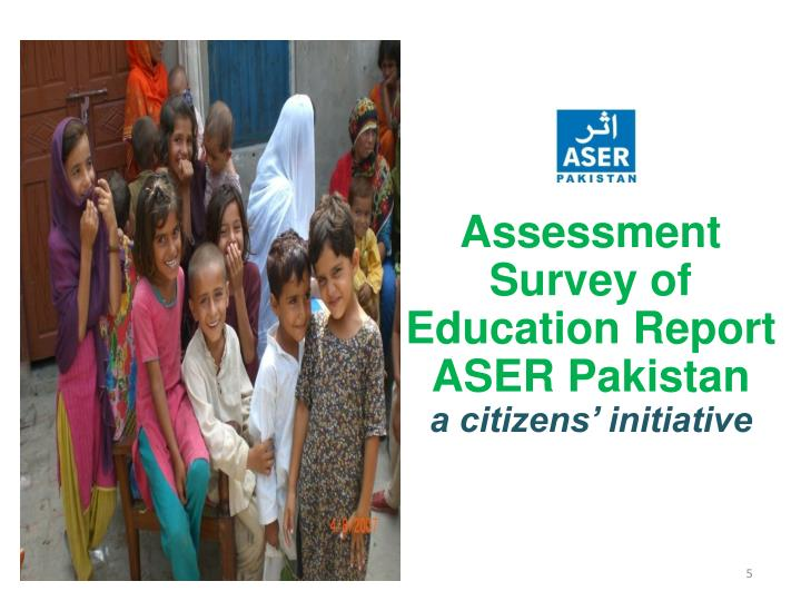 Assessment  Survey of Education Report