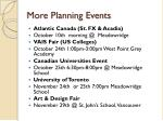 more planning events
