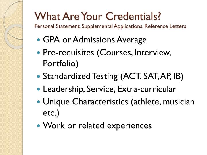 What Are Your Credentials?