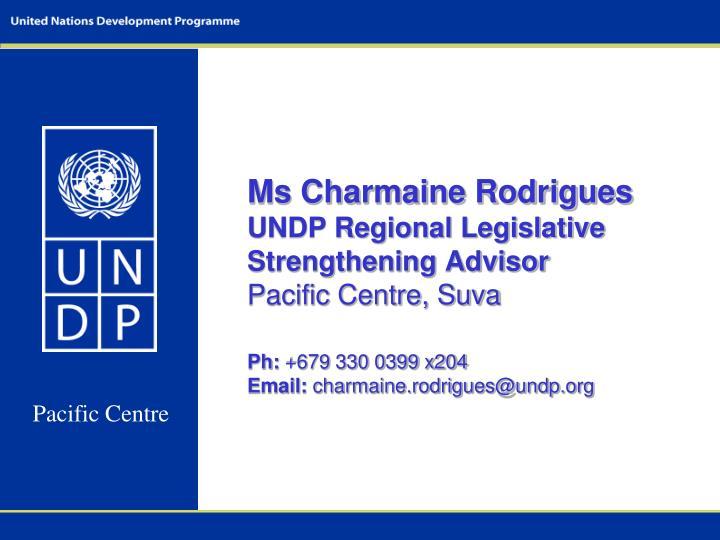 Ms Charmaine Rodrigues