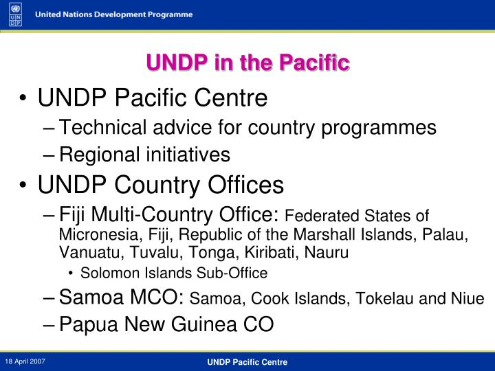 UNDP in the Pacific