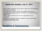 deadlines submissions1