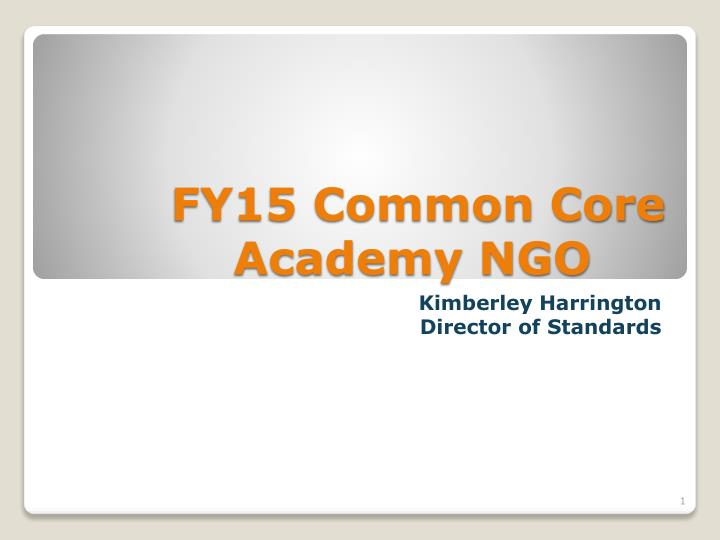 fy15 common core academy ngo