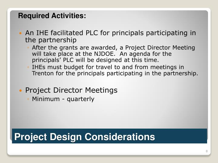 Required Activities: