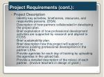 project requirements cont