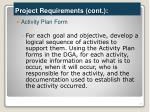 project requirements cont4