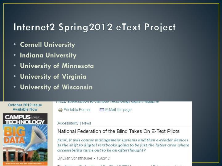 Internet2 Spring2012