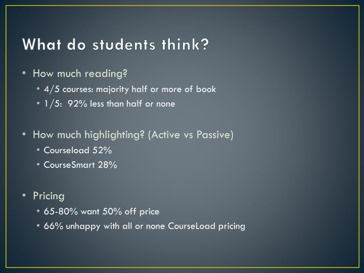 What do students think?
